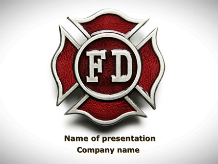 Fire Department Badge Presentation Template, Master Slide