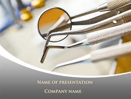Dental Instruments Presentation Template, Master Slide