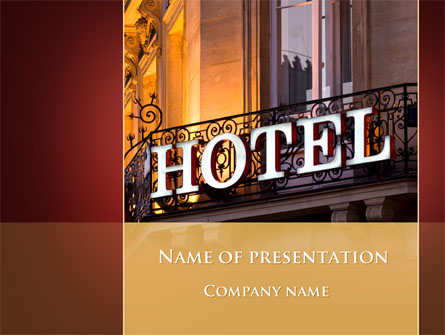 Hotel Signboard Presentation Template For Powerpoint And