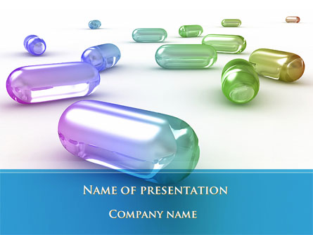 blue pilule presentation template for powerpoint and keynote ppt star