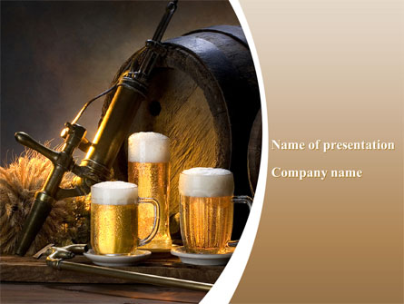 Beer Barrel Presentation Template Master Slide