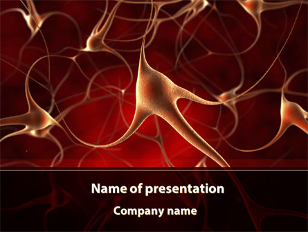 Nerve Cell Presentation Template For Powerpoint And Keynote Ppt Star