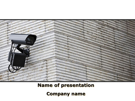 Surveillance Camera Presentation Template, Master Slide