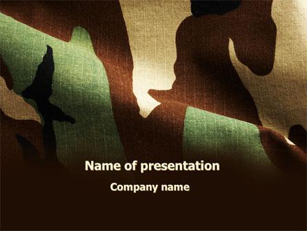Woodland Camouflage Presentation Template, Master Slide