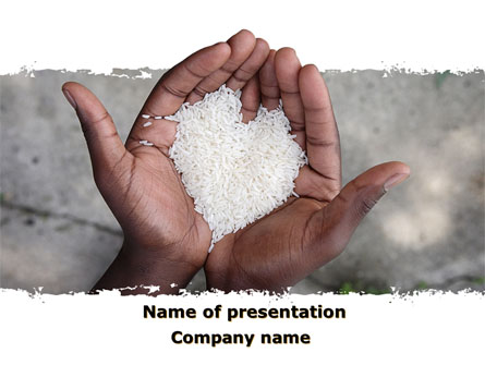 Rice heart in palms presentation template for powerpoint and keynote rice heart in palms presentation template master slide toneelgroepblik Image collections