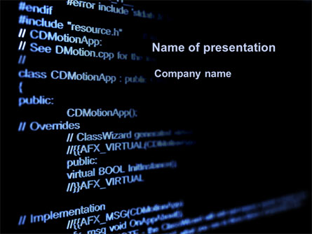 C + + Program Code Presentation Template for PowerPoint and