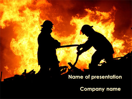 Firefighters Presentation Template, Master Slide
