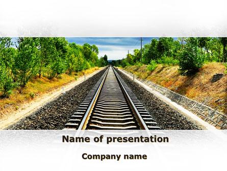 Railway To The Beautiful Land Presentation Template, Master Slide