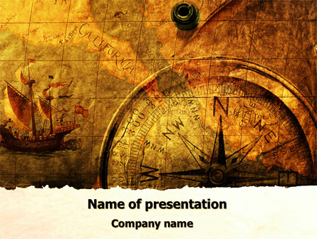 Ancient Map With Compass Presentation Template for PowerPoint and ...