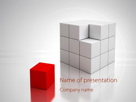 Red part of white cube presentation template for powerpoint and red part of white cube presentation template master slide toneelgroepblik Gallery