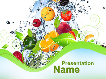 summer fruits presentation template for powerpoint and keynote, Modern powerpoint