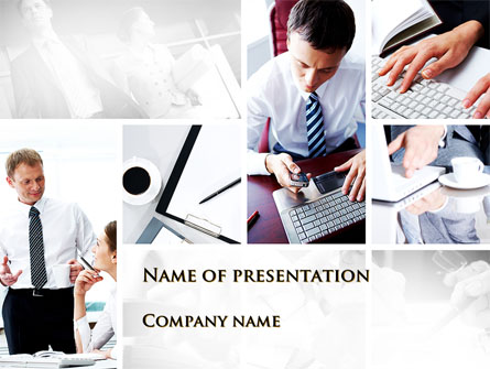 Day At The Office Presentation Template For PowerPoint And Keynote