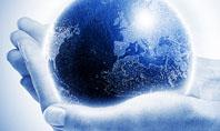 Globe In Hands Presentation Template