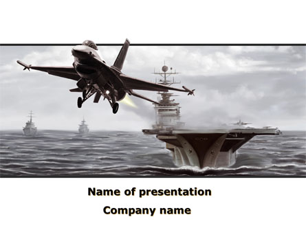 General Dynamics F-16 Fighting Falcon Starting With The Carrier Presentation Template, Master Slide