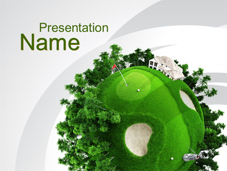 planet golf presentation template for powerpoint and keynote | ppt, Presentation templates