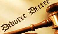 Divorce Decree With Gavel Presentation Template