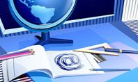 Distant Education Via Internet Presentation Template