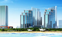Modern Resort On A Seashore Presentation Template