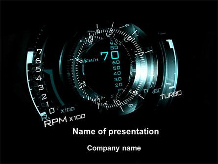 Editable speedometer powerpoint template.