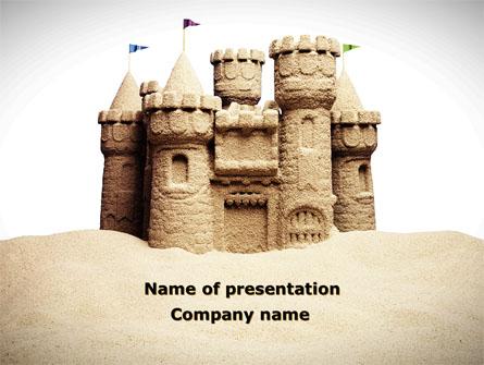 Sand Castle Presentation Template, Master Slide