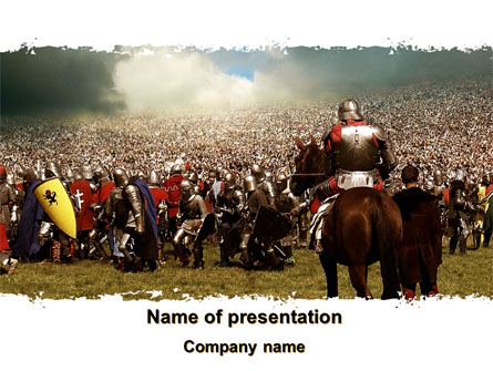 The Great Battles of the Middle Ages Presentation Template, Master Slide