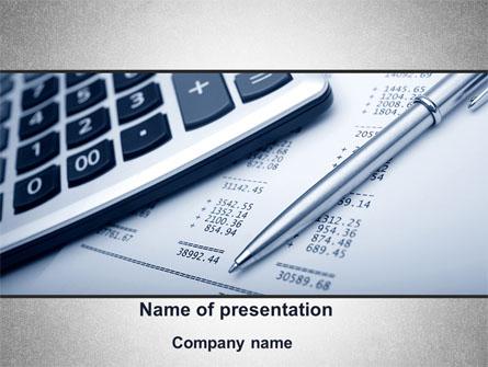 Summing Calculation Presentation Template, Master Slide