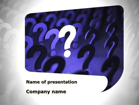 Question Mark Speaking Bulb Presentation Template, Master Slide