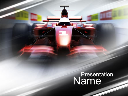 Formula one bolide racing presentation template for powerpoint and formula one bolide racing presentation template master slide toneelgroepblik Gallery
