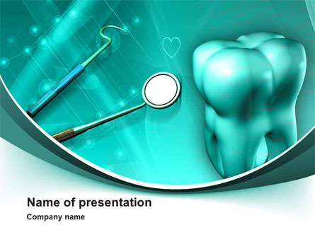 Tooth And Stomatology Instruments Presentation Template, Master Slide