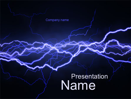 lightning in the night sky presentation template for powerpoint and