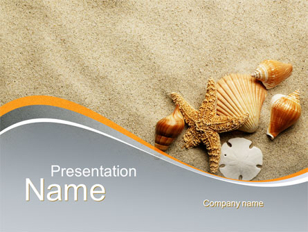 Shells And Starfish Presentation Template, Master Slide
