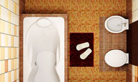 Plan Of Bathroom Presentation Template