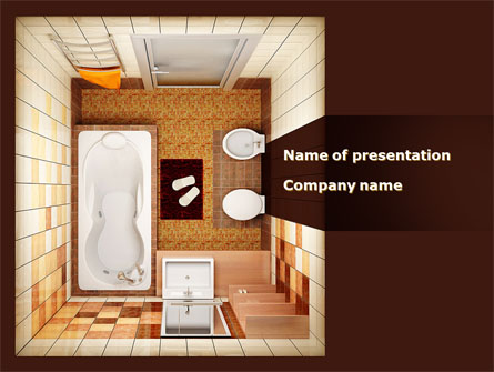 Plan of bathroom presentation template for powerpoint and for Bathroom design template