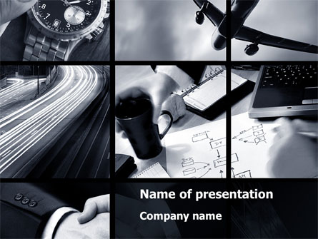 business activity collage presentation template for powerpoint and