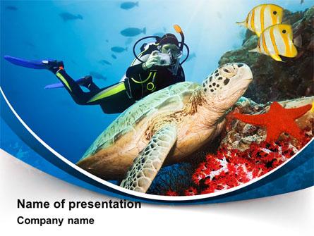 Diving Photo Shooting Presentation Template, Master Slide