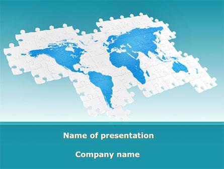 Wide World Jigsaw Presentation Template, Master Slide