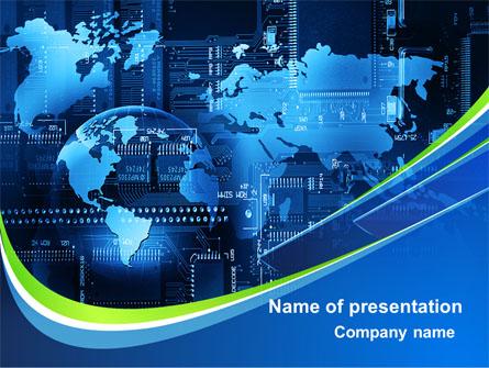 Wide World Computerization Presentation Template, Master Slide