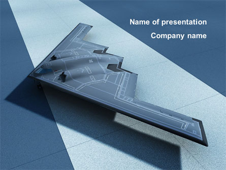 Northrop Grumman B-2 Spirit Presentation Template, Master Slide