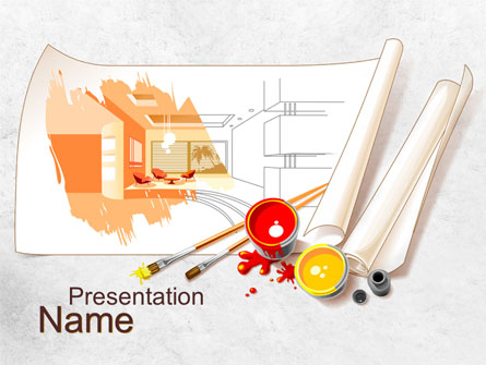 Interior Design Sketch Presentation Template for PowerPoint and