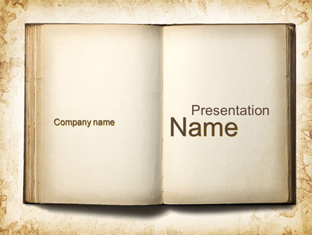 Old book presentation template for powerpoint and keynote ppt star old book presentation template master slide toneelgroepblik Image collections