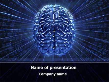 Digital Brain Presentation Template For Powerpoint And Keynote Ppt