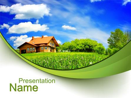 Village house presentation template for powerpoint and keynote ppt village house presentation template master slide toneelgroepblik Gallery