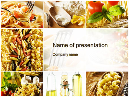 cooking pasta presentation template for powerpoint and keynote, Modern powerpoint