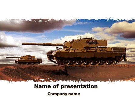 Tank Attack Presentation Template, Master Slide
