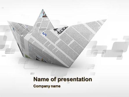 Paper Boat Presentation Template Master Slide