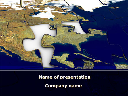 USA Puzzle Presentation Template, Master Slide