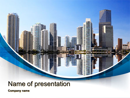 City Reflection Presentation Template, Master Slide
