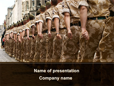Soldiers March Presentation Template, Master Slide