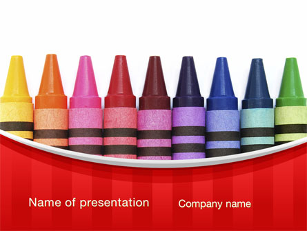 Crayons presentation template for powerpoint and keynote ppt star crayons presentation template master slide toneelgroepblik Gallery