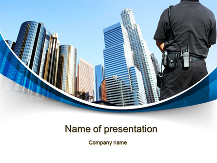 City Guard Security Presentation Template for PowerPoint and Keynote